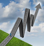 Outlook finanziario Fotografia Stock Libera da Diritti