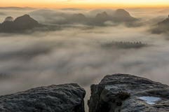 Outlook into the fog Royalty Free Stock Image