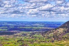 Outlook on a landscape in bayern Royalty Free Stock Images