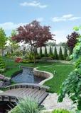 Outlook Landscape Scenery Style, 3D Rendering. Mansion outlook scene. Homestead landscape design Royalty Free Stock Photos