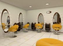 Outlook of luxury beauty salon. Outlook of workplaces in luxury beauty salon Stock Illustration