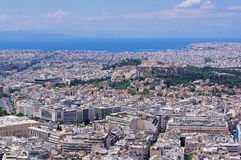 Outlook over Athens Stock Photos