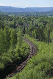 Outlook over railroad track at Doeda Fallet in Sweden Royalty Free Stock Images