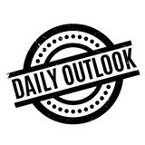 Daily Outlook rubber stamp. Grunge design with dust scratches. Effects can be easily removed for a clean, crisp look. Color is easily changed Stock Images