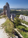 Outlook from ruins of Cachtice Castle royalty free stock photography