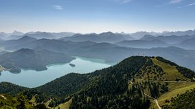 Outlook sur Walchensee Photo libre de droits