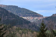 Outlook to the town of Bernbach, Black Forest, Baden-Wurttemberg, Germany Stock Images
