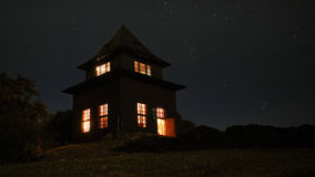Outlook-tower at night Stock Photography