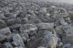 Outlook van talrijke stijve stenen stock afbeelding