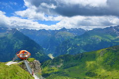 Outlook, The Way from Stubnerkogel, Bad Gastein, Funicular, Austria Stock Photography