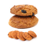 Outmeal cookies with raisins. Royalty Free Stock Images