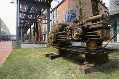 Outmoded machinery at Chengdu Eastern Music Park Royalty Free Stock Photography