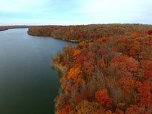 outono aéreo imagens de stock royalty free