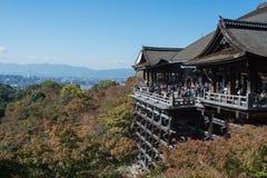 outono adiantado do templo de Kiyomizu-dera Foto de Stock Royalty Free