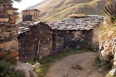 outono 2014 As vilas de Ushguli Svaneti geórgia Imagem de Stock Royalty Free