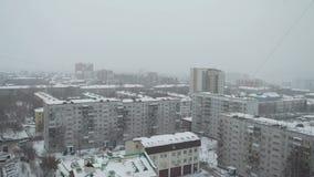outono atrasado na cidade do russo video estoque