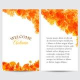 outono bem-vindo para a Web ou a cópia Foto de Stock