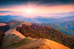 outono Carpathian mountains_1a Imagem de Stock