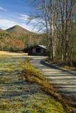 Outono, celeiro, angra de Cataloochee Imagem de Stock