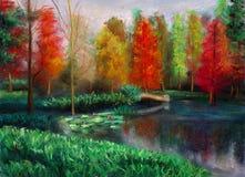 Outono com cor ilustração royalty free