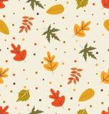 outono com teste padrão da folha Foto de Stock