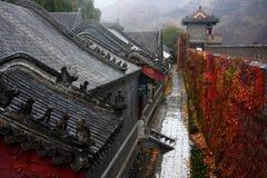 outono do Grande Muralha chuvoso Imagens de Stock Royalty Free