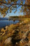 Outono do norte longo Foto de Stock Royalty Free