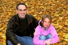 Outono do parque da família Fotografia de Stock