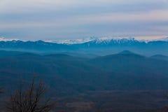 outono do por do sol da montanha Foto de Stock