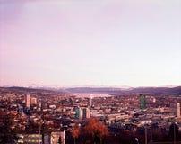 outono do scape da cidade de Zurique Zurique fotos de stock