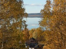 outono dourado do lago do galich da natureza Fotografia de Stock Royalty Free