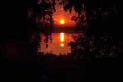 outono dourado do lago do galich da natureza Foto de Stock