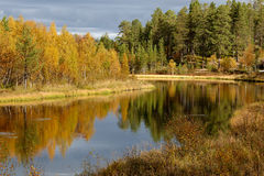 outono em Klutsjön Fotos de Stock Royalty Free