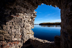 outono em Koknese, Letónia foto de stock