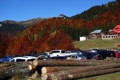outono em outubro ao platô vermelho 3 da montanha fotos de stock royalty free