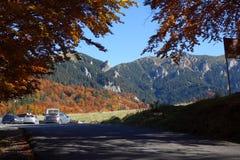 outono em outubro ao platô vermelho 1 da montanha fotografia de stock royalty free