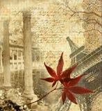 Outono em Paris ilustração stock