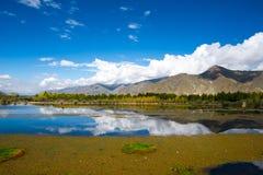 Outono em Tibet Foto de Stock Royalty Free