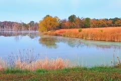 outono em um lago Missouri Fotos de Stock Royalty Free