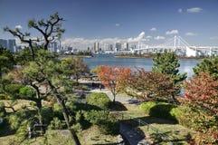 outono na baía do Tóquio, Japão