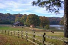 Outono na exploração agrícola Imagem de Stock Royalty Free