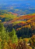 outono na passagem de Ohio, Colorado fotografia de stock royalty free