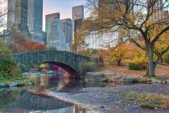 Outono na ponte de Gapstow Imagem de Stock Royalty Free