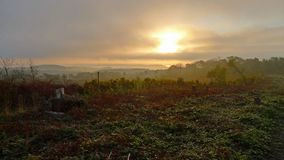 outono na terra comum de Woodbury, Devon fotos de stock royalty free
