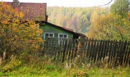 Outono na vila Foto de Stock