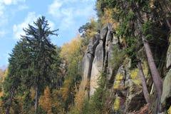 outono nas montanhas Teplice Fotos de Stock Royalty Free