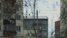 outono nebuloso, Cazaquistão, Atyrau vídeos de arquivo