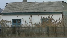 outono nebuloso, Cazaquistão, Atyrau video estoque