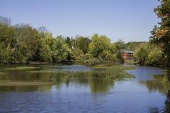 outono no Delaware e no canal de Raritan - horizontais Fotos de Stock Royalty Free