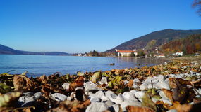 outono no lago Tegernsee Fotografia de Stock Royalty Free